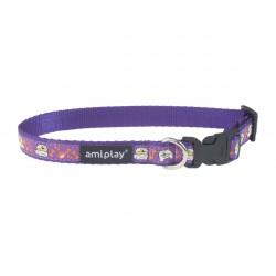 Regulējama kaklasiksna suņiem Amiplay Wink Violet Casual Wink size L