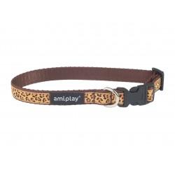 Regulējama kaklasiksna suņiem Amiplay Wink Brown Casual Wink size L