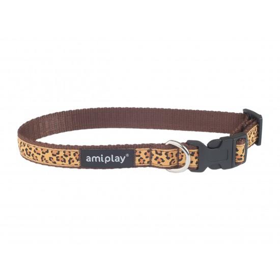 Regulējama kaklasiksna suņiem Amiplay Wink Brown Casual Wink size M