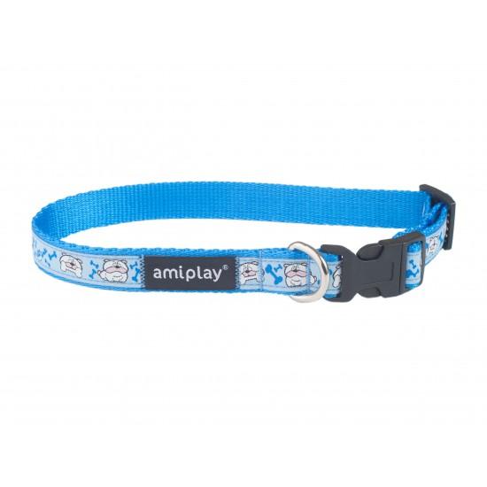 Regulējama kaklasiksna suņiem Amiplay Wink Blue Casual Wink size L