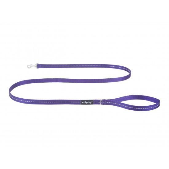 Pavads suņiem Leash Reflective Violet Size S