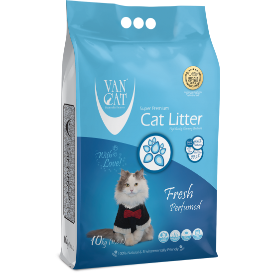 Van Cat Fresh 10kg сementējošās smiltis kaķu tualetēm