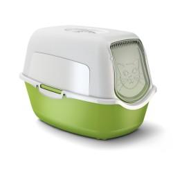 Bailey Cat Toilet tualete ar jumtu (Zaļa)