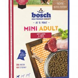 Bosch Mini Adult ar jēra gaļu un rīsiem pieaugušiem mazo šķirņu suņiem 15kg
