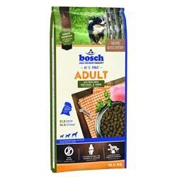 Bosch Adult Geflügel and Hirse 15 kg Pilnvērtīga sausā barība ar putna gaļu visu šķirņu pieaugušiem suņiem.