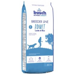 Bosch Breeder Line Lamb & Rice sausā barība ar jēra gaļu un rīsiem pieaugušajiem visu šķirņu suņiem, 20 kg