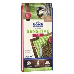 Bosch Sensitive Lamb & Rice 15kg sausā barība pieaugušiem un jutīgiem suņiem