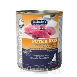 Dr.Clauders konservi suņiem ar tītara gaļu un rīsiem 800gr