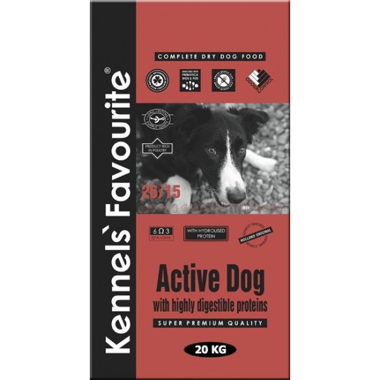 Kennel's Favourite Active Dog, 20 kg