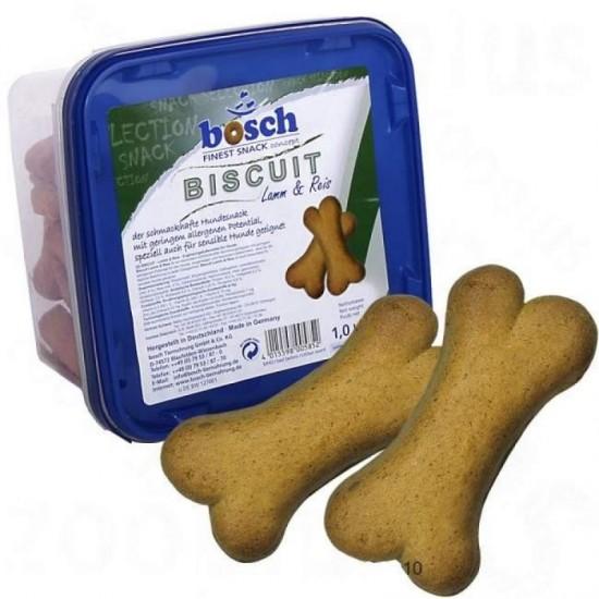 Bosch Biscuit ar Jēra gaļu un rīsiem suņiem 1kg