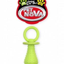 Suņu rotaļlieta Baby dummy 14cm, dzeltena, piparmētru aromatizators