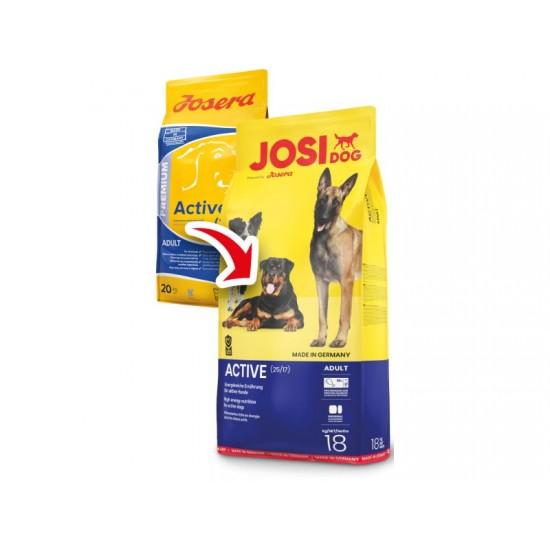 Josera JosiDog Active 18kg Pilnvērtīga sausā barība pieaugušiem ļoti aktīviem suņiem
