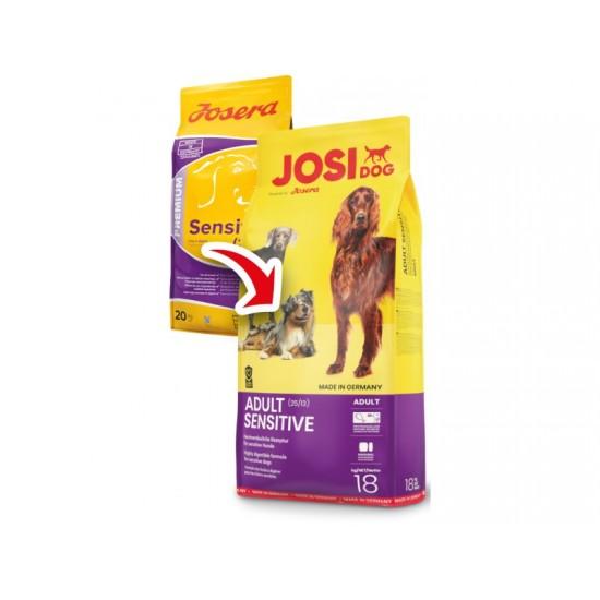Josera JosiDog Adult Sensitive 18kg Pilnvērtīga sausā barība pieaugušiem suņiem ar jutīgu gremošanas sistēmu