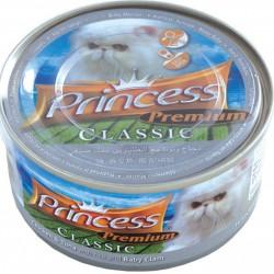 Princess Premium Classic  170gr ar Vistas gaļu, tunci, rīsiem un Gliemeņu Mazuļiem