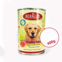 Berkley Poultry Mix Adult Dog Menu 400g Putnu ragu ar olīvelļu