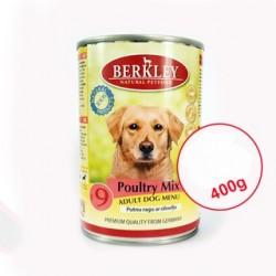 Berkley Poultry Mix Adult Dog Menu 400g Putnu ragu ar olīvelļu