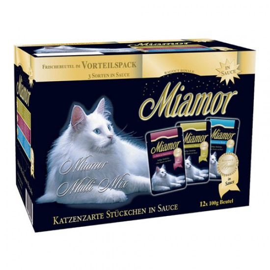 Miamor Ragout Royale Mix In Sauce 12x100g Konservi mērcē 3 veidi