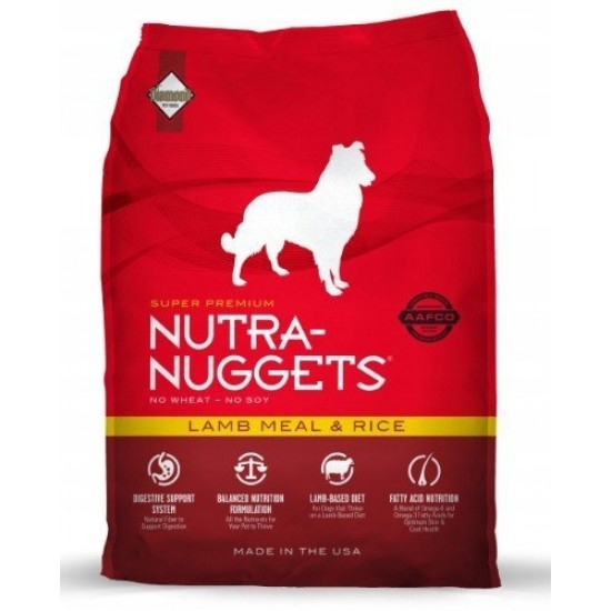 Nutra Nuggets Lamb & Rice, 18 kg