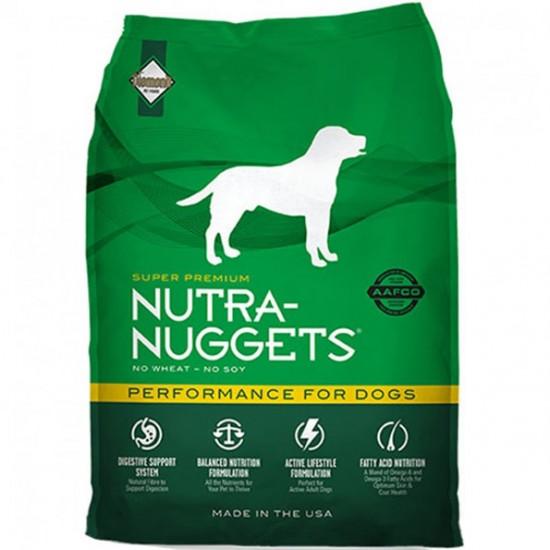 Nutra Nuggets Performance 15+3 kg Barība pieaugušiem suņiem ar normālu un augstu aktivitāti