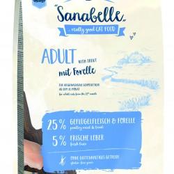 Sanabelle Adult with Trout 2kg Pilnvertīga sausā barība kaķiem ar foreles garšu
