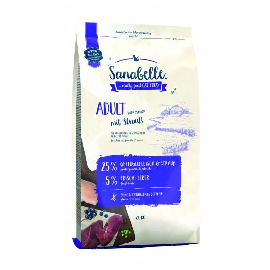 Sanabelle Adult sausā barība kaķiem ar strausa garšu 2kg
