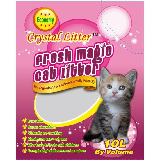 Crystal Litter Silica gel smiltis kaķu tualetēm 10l