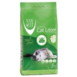 VAN CAT Compact Aloe cementējošās smiltis kaķu tualetēm 5kg