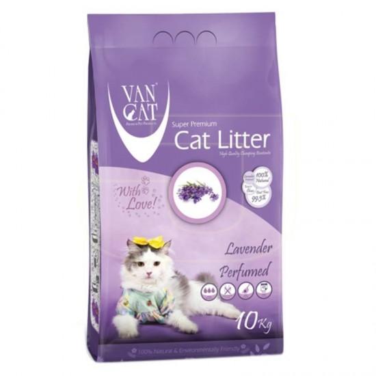 VAN CAT Compact Lavander cementējošās smiltis kaķu tualetēm 10kg