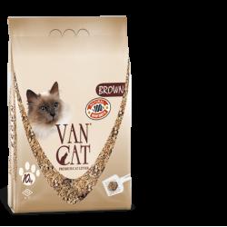 VAN CAT Brown cementējošās smiltis kaķu tualetēm 10kg