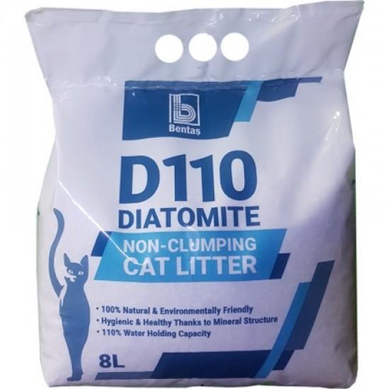 Necementējošas kaķu smiltis D110 Diatomite 8L