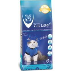 Van Cat Compact Baby Powder cementējošās smiltis kaķu tualetem ar bērnu pūderi 15kg
