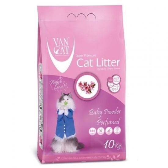 Van Cat Baby Powder 10kg cementējošās smiltis kaķu tualetēm