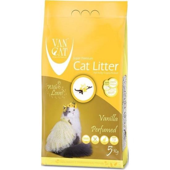 VAN CAT Compact Vannila cementējošās smiltis kaķu tualetēm ar vaniļas aromātu 5kg