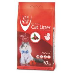 Van Cat Compact 10kg cementējošās smiltis kaķu tualetēm bez aromāta.