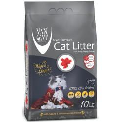VAN CAT Grey ( Pēleks) cementējošās smiltis kaķu tualetēm 10L