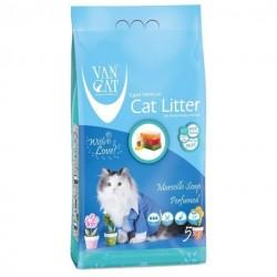 Van Cat Marseille Soap cementējošās smiltis kaķu tualetēm ar Marseļas ziepes aromātu 5kg